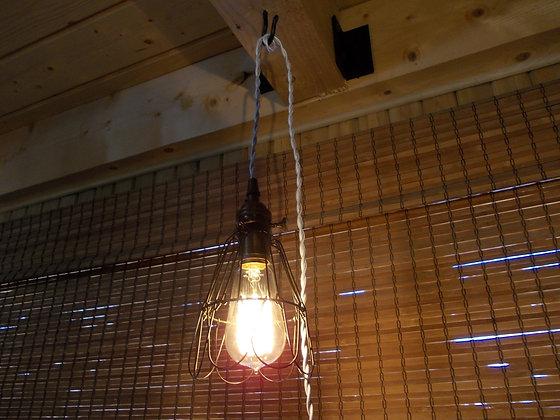 5045  Lampe a fil avec cage
