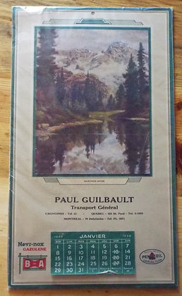 6381 Calendrier Paul Guilbault