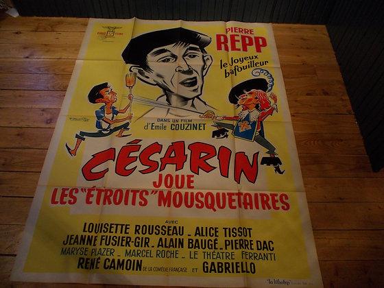 """6035 Affiche film Les """"étroits""""mousquetaires"""