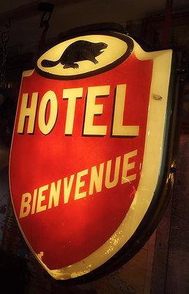 7863 Enseigne Hotel bienvenue