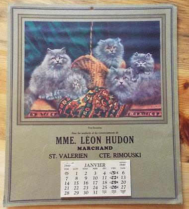 6378 Calendrier Léon Hudon