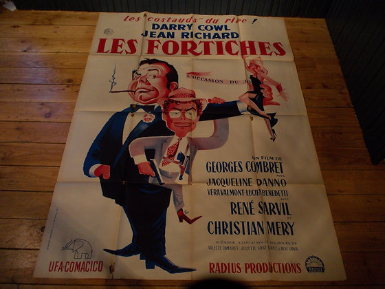 6031   Affiche original film Les Fortiches