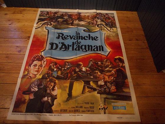 6032 Affiche original film  revanche de D'artagnan