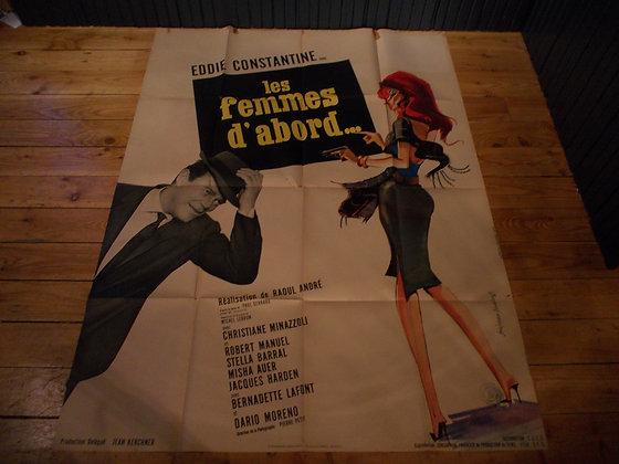 6046 Affiche film Les Femmes d'abord