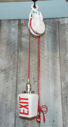 5147 Lampe a poulie Exit