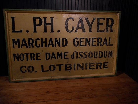 6010   Enseigne de tole L.PH.CAYER