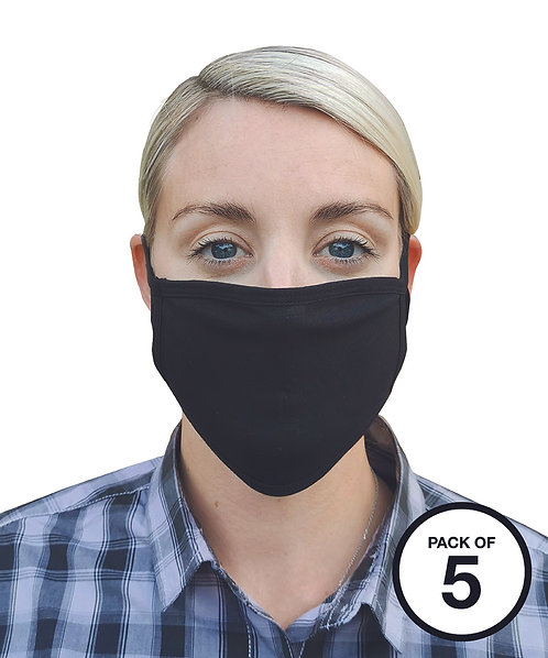 Washable 2-ply face covering (pack of 5)