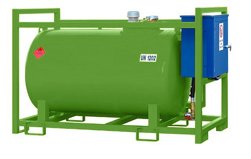 Petrol / Mixed Fuel Tanks With protective frame & electric dispensing pump
