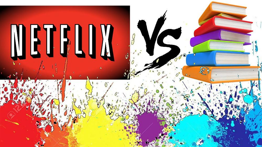 Image result for netflix vs books