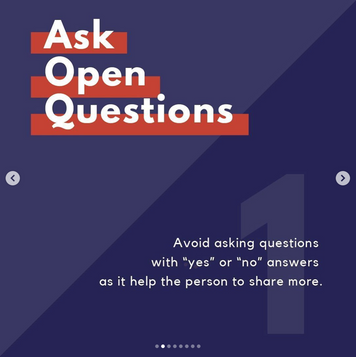 1. Ask Open Questions