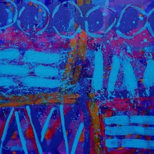 """Colour Notation - 48"""" X 48"""" - John Nolan"""