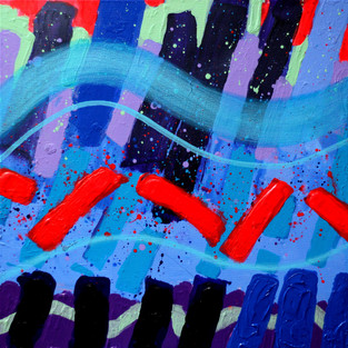 "Accoustic Abstract - 24"" X 24"" - John Nolan"