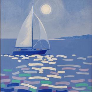 """Moonlight Sail - 16"""" X 20"""" - John Nolan"""