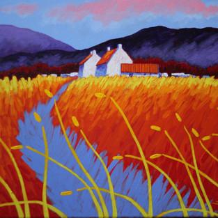 "Purple Hills - 16"" X 20"" - John Nolan"