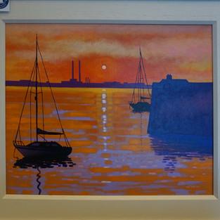 "Sunset Dun Laoghaire - 20"" X 16"""