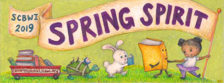 SCBWI Spring Spirit Logo