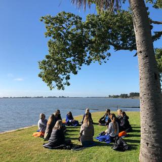 Práctica al aire libre en Laguna de Chascomús