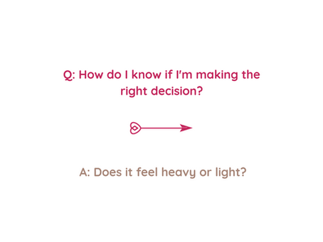 Q: How do I know if I'm making the right decision?