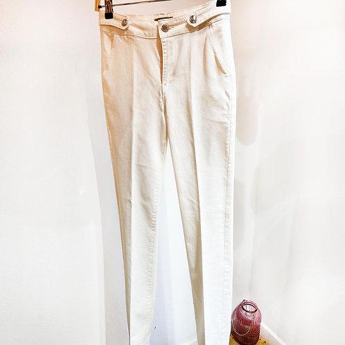Pantalón blanco stretch
