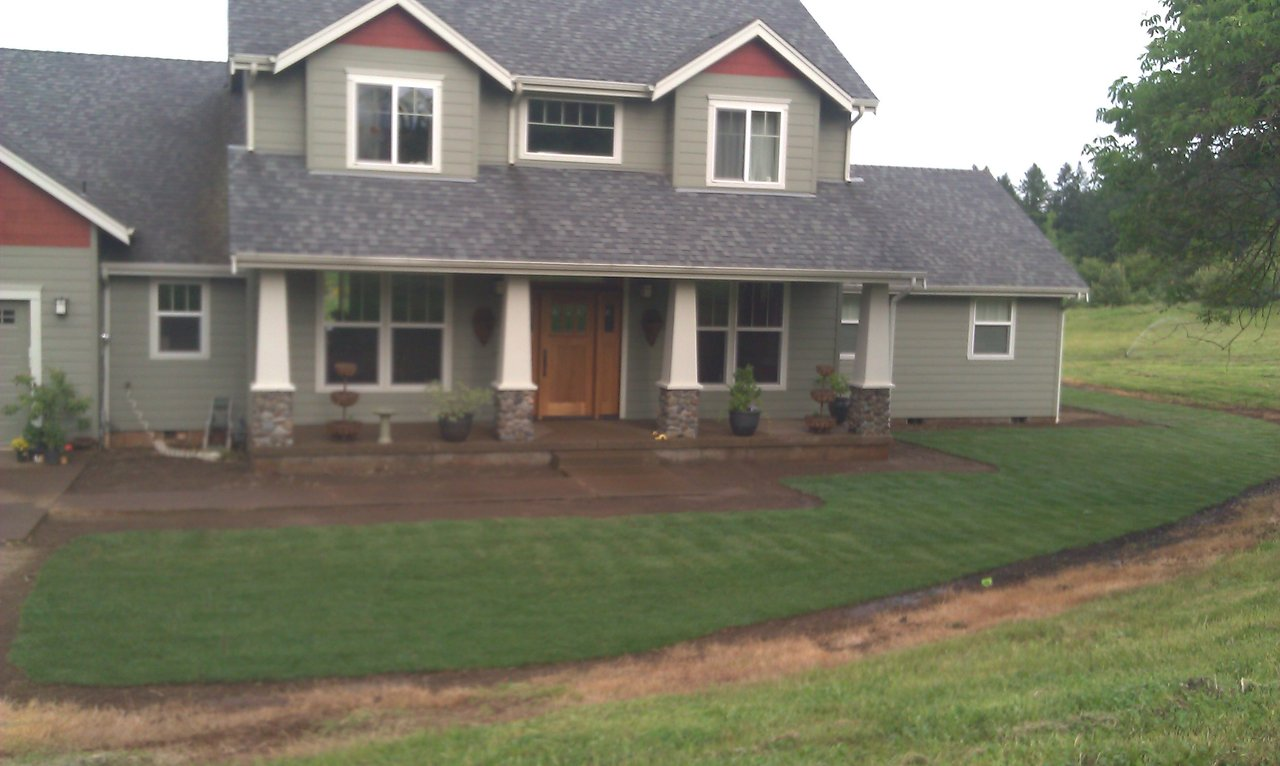 Sod and irrigation system