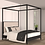 Thumbnail: Noir Canopy Bed Queen Size