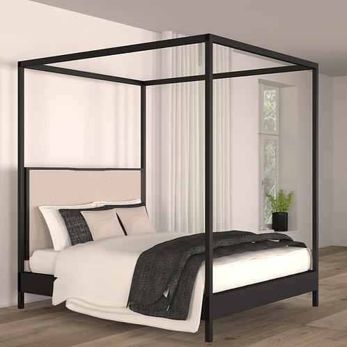 Noir Canopy Bed Queen Size