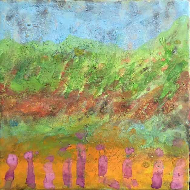 Landscape 1. 12 x 12 In. Mixed media. $600 US