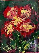 FLOWER-FLOR II. oil colors on paper. 19x