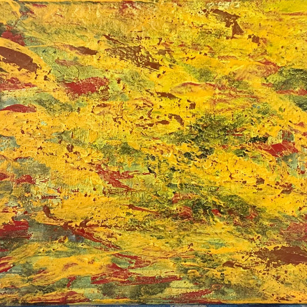 Yellow Water. 10 x 8 In. Mixed media. $300 US