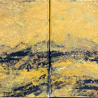 Waves I (diptych). 24 x 12 In. Mixed media. $990 US