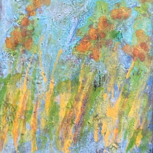 The flowers I. 8 x 10 In. Mixed media. $300 US