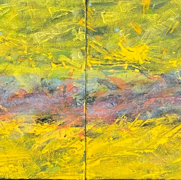 River 2. 20 x 5 In. Mixed media. $650 US