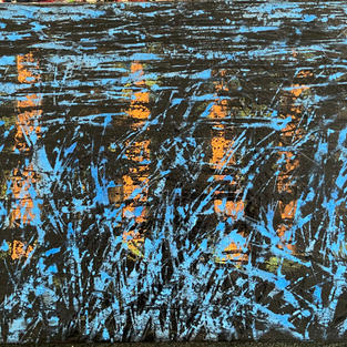 Nocturne. 16 x 20 In. Mixed media. $1.500 US