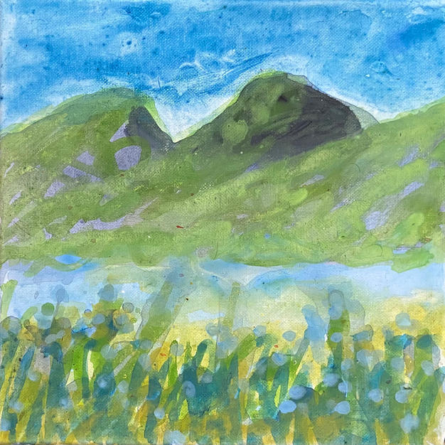 Andes mountains 3. 10 x 10 In. $600 US