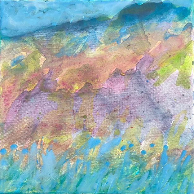 Andes mountains I. 10 x 10 In. Acryl. $600 US