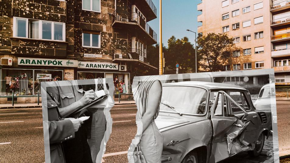 1968, Budapest, Magyar Jakobinusok tere, háttérben a Kékgolyó utca | fortepan_65742