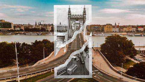 1940, Budapest, Erzsébet híd a budai hídfő felől | fortepan_10634