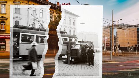1960, Budapest, Széna tér a Retek utca és a Lövőház utca torkolata felé nézve | fortepan_110406