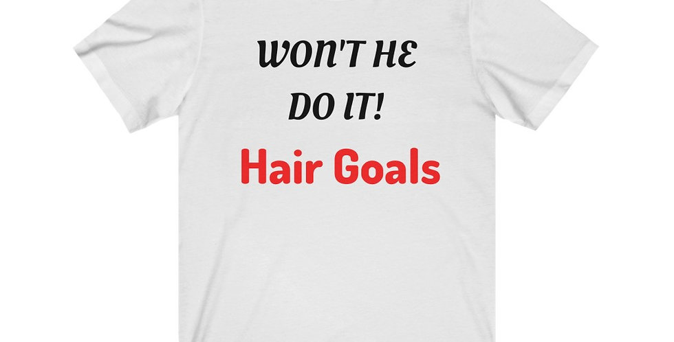 WON'T HE DO IT! Length Check Tee (Double Sided)