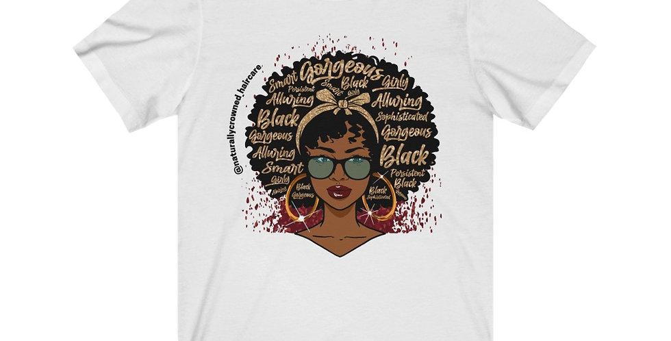 Powerful Afro Woman Short Sleeve Tee