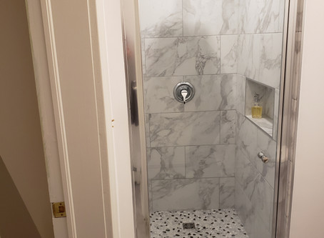 Our first renovated bathroom.