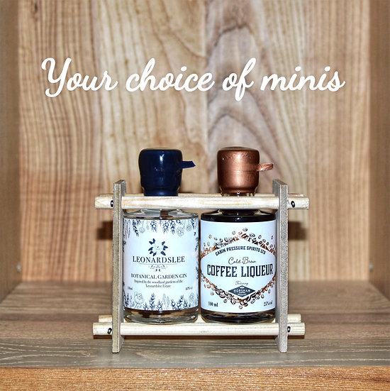 Two Bottle Miniature Rack
