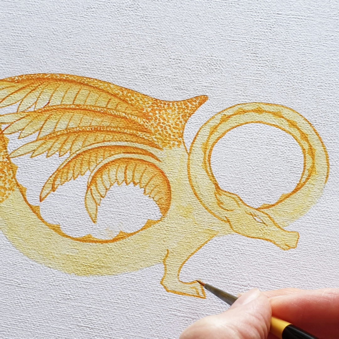 Horsham Serpent Artwork in progress