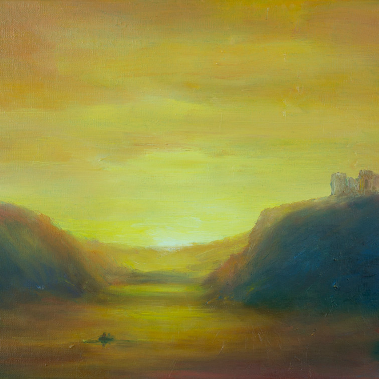 Castle Ruins, Sunset SOLD