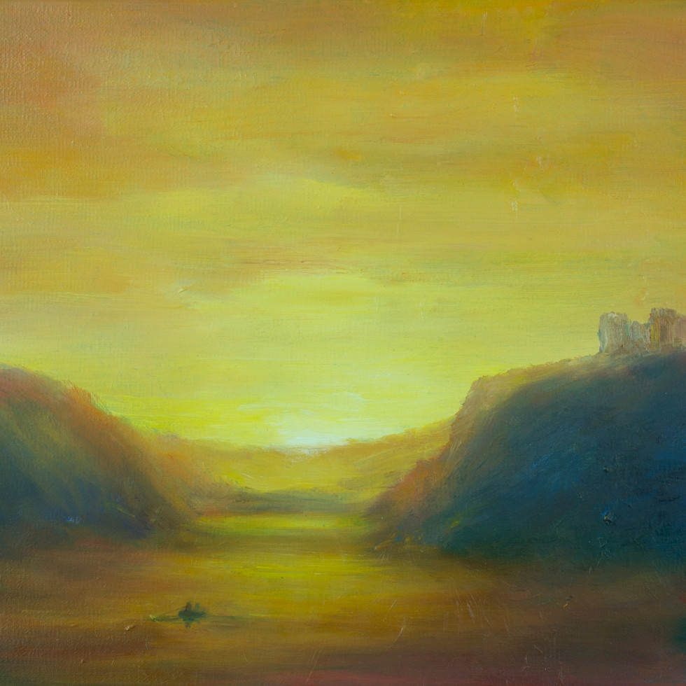 Castle Ruins, Sunset SOLD
