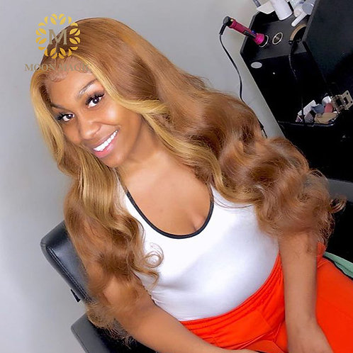 Honey Blonde 360 Pre Plucked Full Lace Human Hair Wigs