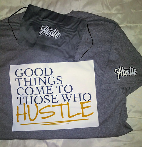 Hustle Face Mask & T-Shirt Set