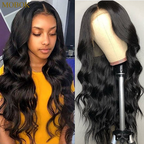 Mobok Brazilian Body Wave 360 Lace Frontal Wig Pre Plucked Hairline