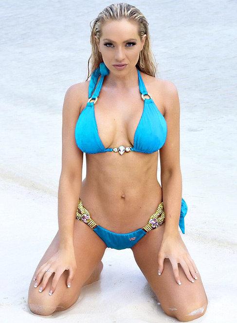 Amber Luxury Top & Tie Side Bottom - Turquoise