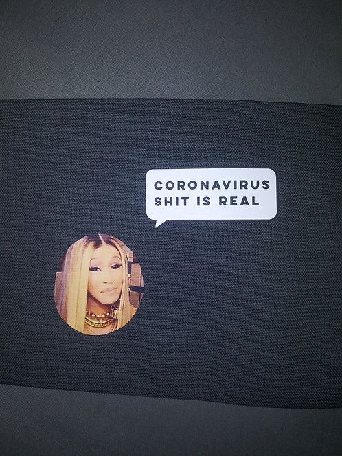 Cardi B Coronavirus Face Mask